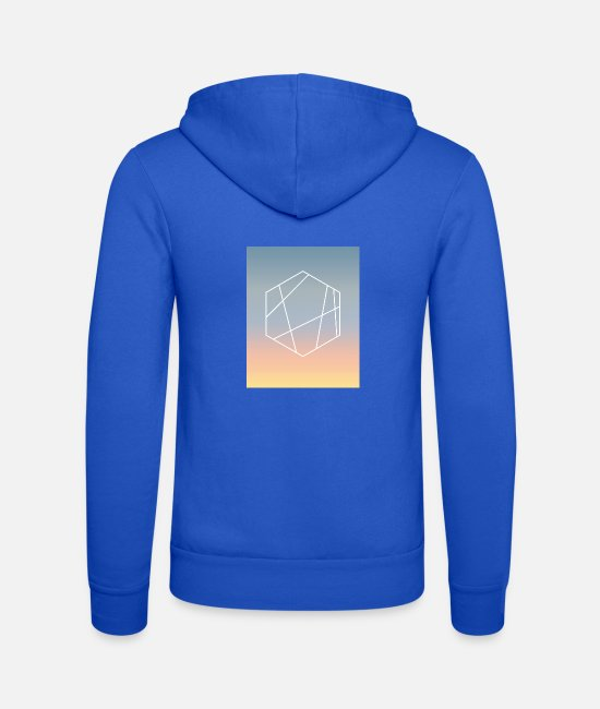 Geometry Hoodies & Sweatshirts - summer evening - Unisex Zip Hoodie royal blue