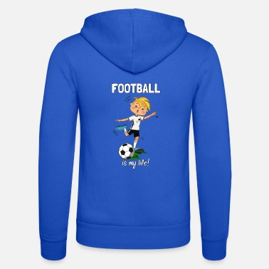 football_germany_Scritta - Felpa con zip unisex
