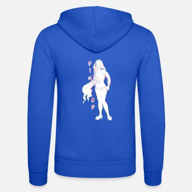 Topper pin-up girl met topper - Unisex zip hoodie