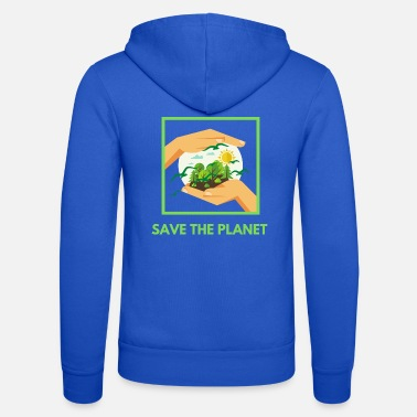 Öko Save The Planet! - Unisex Kapuzenjacke