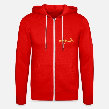 Writing gandhi signature - Unisex Zip Hoodie