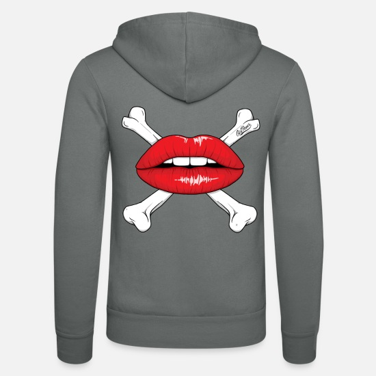 Pirate Sweat-shirts - Red Lips - Veste à capuche unisexe gris