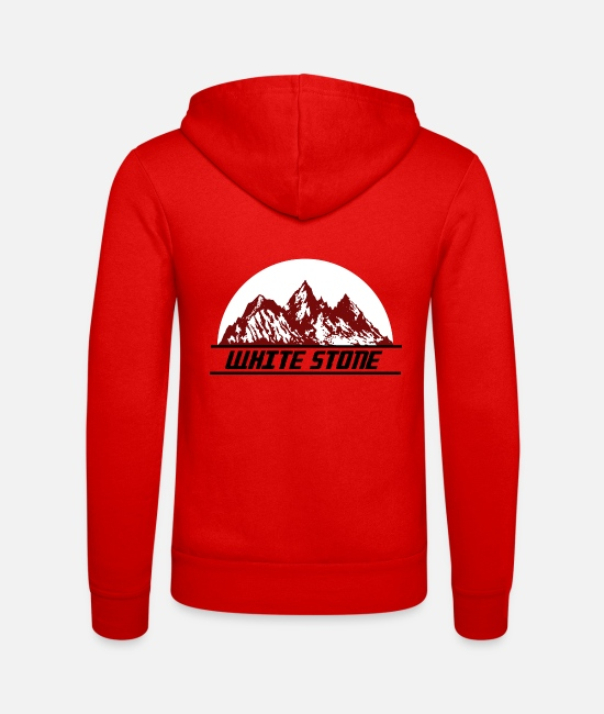 Sport Climbing Hoodies & Sweatshirts - White stone for all mountaineers - Unisex Zip Hoodie classic red