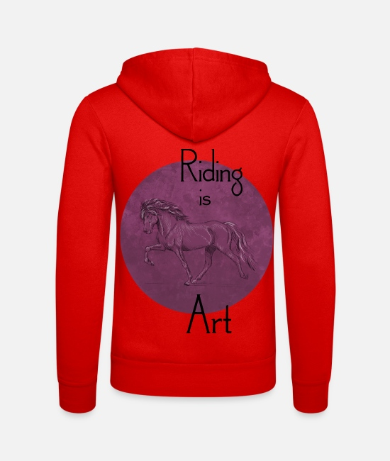 Riding Pullover & Hoodies - Tölter Art Purple - Unisex Kapuzenjacke klassisch Rot