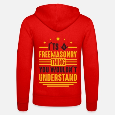 Emblem It's Freemasonry Thing Wouldn't Understand Mason - Unisex Kapuzenjacke