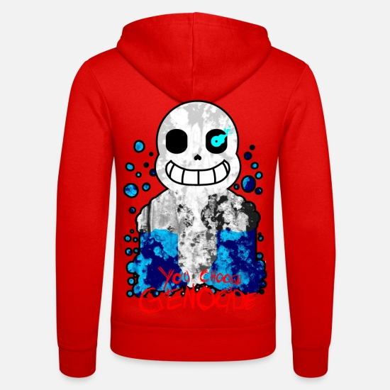 Undertale Sweat-shirts - You Choose Genocide - Veste à capuche unisexe rouge classique