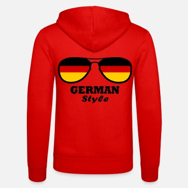 Frankfurt Germany Flag - German style - Unisex Zip Hoodie