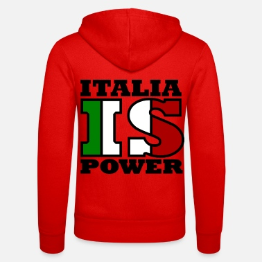Florence Italia is power - Unisex Zip Hoodie