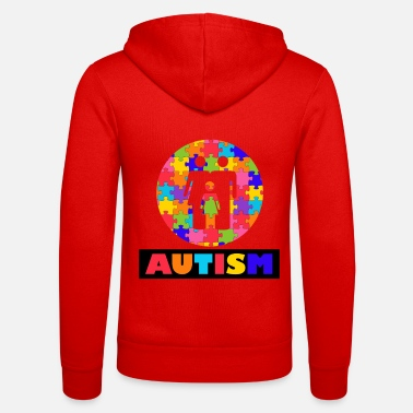 Autism Month Vintage Autism Autism Awareness Month - Unisex Zip Hoodie