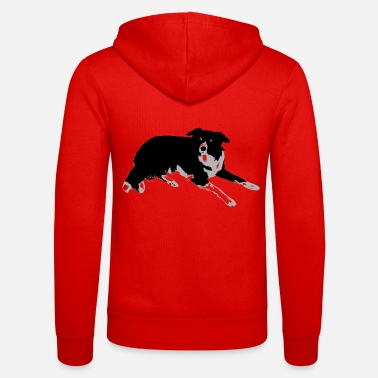 Border Collie Border Colli, a true friend. - Unisex Hooded Jacket by Bella + Canvas