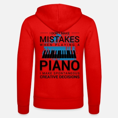 Pianist Learning to play the piano - Unisex Zip Hoodie