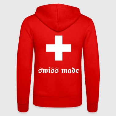 swiss made - Unisex Kapuzenjacke von Bella + Canvas