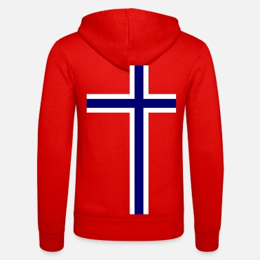 Norge Norge Norge Norge flagga - Luvjacka unisex från Bella + Canvas