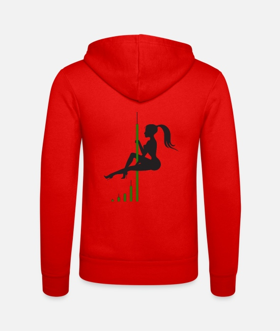 Btc Hoodies & Sweatshirts - Bitcoin Candle Dance - Unisex Zip Hoodie classic red