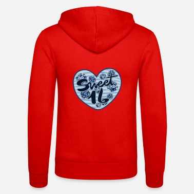 Birthday sweet 16 16th birthday party - Unisex Zip Hoodie