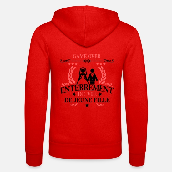 Fillette Sweat-shirts - game over enterrement de vie de jeune fille - Veste à capuche unisexe rouge classique