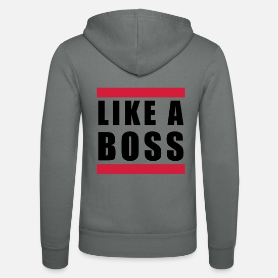 Chef Sweat-shirts - like a boss - Veste à capuche unisexe gris