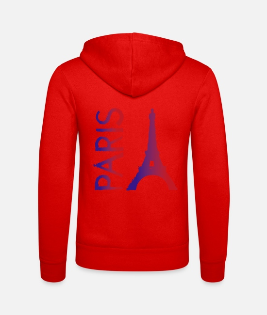 Travel Hoodies & Sweatshirts - Paris - Unisex Zip Hoodie classic red