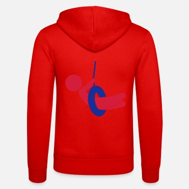 Children S Room Child sitting on a swing - Unisex Zip Hoodie