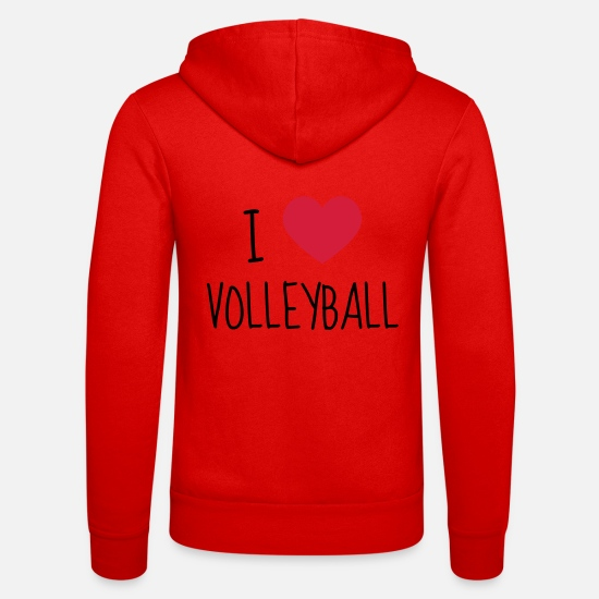 Play Hoodies & Sweatshirts - Volleyball - Volley Ball - Volley-Ball - Sport - Unisex Zip Hoodie classic red