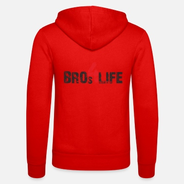 bros 4 life - black-red - Unisex Kapuzenjacke
