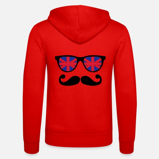 Like A Sir Sweat-shirts - english mustache glasses nerd - like a sir - Veste à capuche unisexe rouge classique