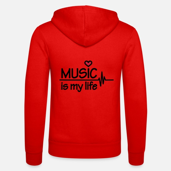 Music Is Life Sweat-shirts - Music is my life - Veste à capuche unisexe rouge classique