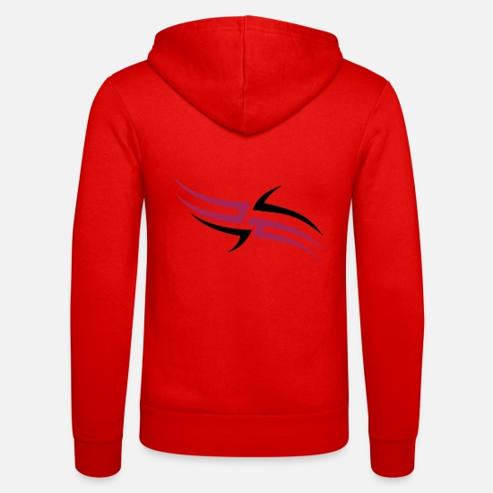 Farbe Pullover & Hoodies - trible3_2f - Unisex Kapuzenjacke klassisch Rot