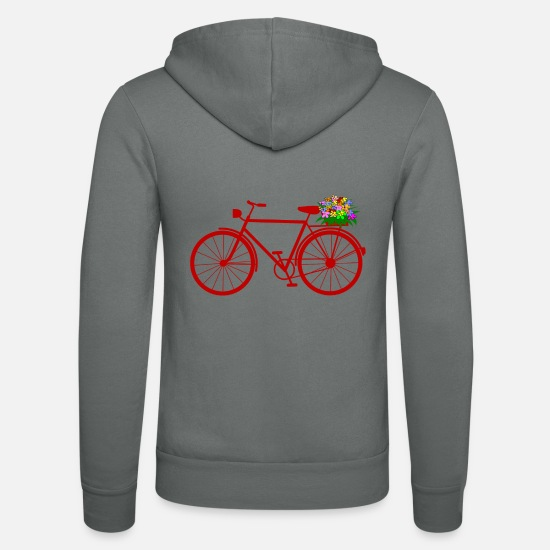 Flowers Hoodies & Sweatshirts - cycle - Unisex Zip Hoodie grey