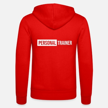 Personal personal trainer blue color - Unisex Zip Hoodie