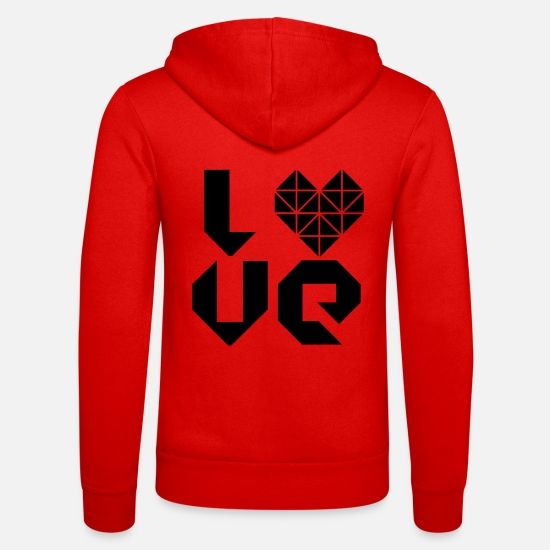 Love Hoodies & Sweatshirts - I LOVE - Unisex Zip Hoodie classic red