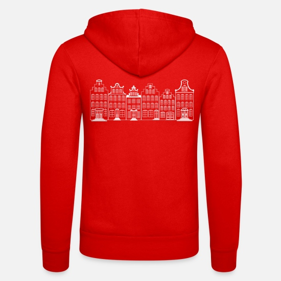 Harbour Hoodies & Sweatshirts - Old Town Amsterdam canals - Unisex Zip Hoodie classic red