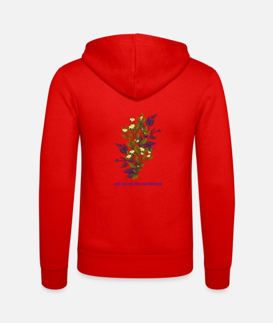Quote Hoodies & Sweatshirts - art life rain flowers motivation woman gift idea - Unisex Zip Hoodie classic red
