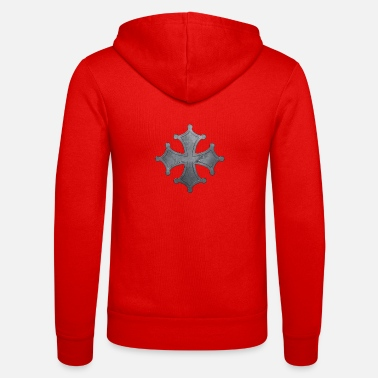 Iron Metal Occitan cross metal iron - Unisex Zip Hoodie