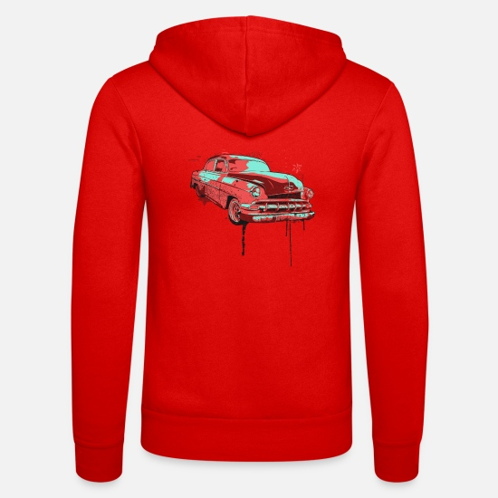 Love Hoodies & Sweatshirts - Broken car car hobby love gift idea - Unisex Zip Hoodie classic red