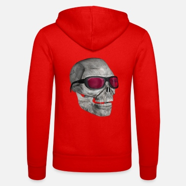 Cool skull with sunglasses 3000 - Unisex Zip Hoodie