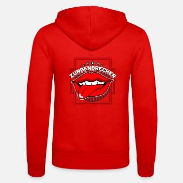 Tongue Tongue twister mouth tongue - Unisex Zip Hoodie