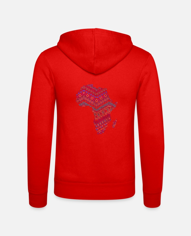 Gift Pullover & Hoodies - Africa Map - African Pride Traditional Ethnic - Unisex Kapuzenjacke klassisch Rot