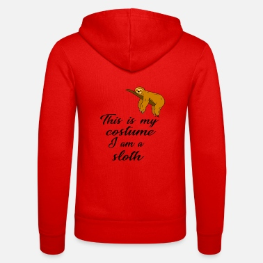 Sohn This is my costume, I am a sloth Faultier Fasching - Unisex Kapuzenjacke von Bella + Canvas