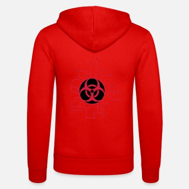 Pandemic circuitry electrically symbol toxic virus bacteria - Unisex Zip Hoodie
