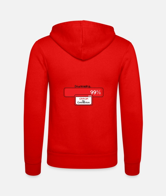 At Home Hoodies & Sweatshirts - Download problems - Unisex Zip Hoodie classic red
