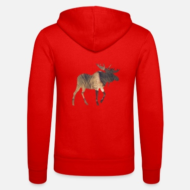 Funges Moose and Mushroom - Unisex Zip Hoodie
