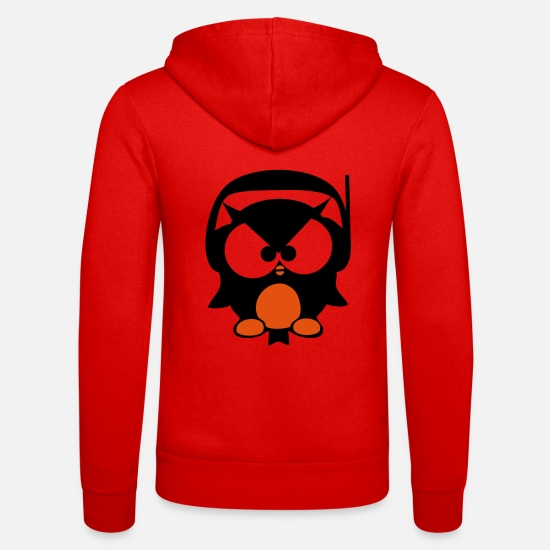 Music Hoodies & Sweatshirts - owl beat - beat owl - Unisex Zip Hoodie classic red