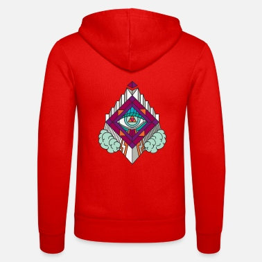 Bodyart Geometry Geometric GeomTRIBE tattoo KoralDesign - Unisex Zip Hoodie