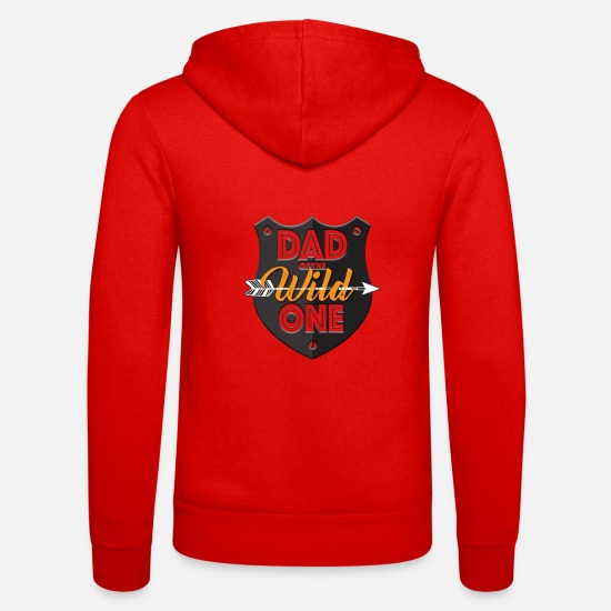 Gift Sweaters & hoodies - Father of the Wild - Gift - Unisex zip hoodie klassiek rood