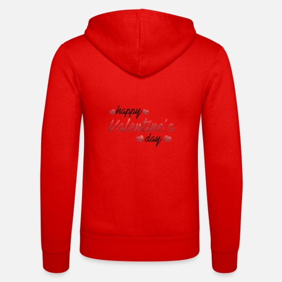 Love Hoodies & Sweatshirts - happy valentines day special love affaction quotes - Unisex Zip Hoodie classic red