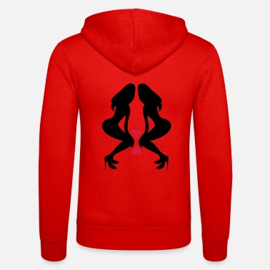 Long Underwear ۞»♥Sexy Twin women on Killer Stilettos♥«۞ - Unisex Zip Hoodie