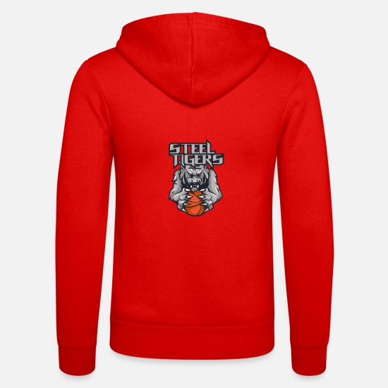 Kind Hoodies & Sweatshirts - Steel Tigers basketball - Unisex Zip Hoodie classic red