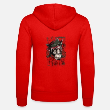 Pirate pirate monkey - Unisex Zip Hoodie