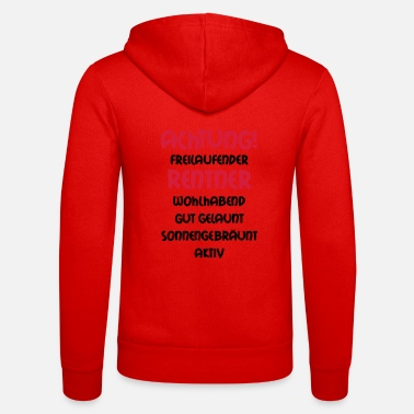Grandad Underwear Warning freewheeling retirees, wealthy, well- - Unisex Zip Hoodie